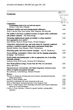 Environment   Planning PDF