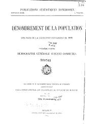Magyar statisztikai közlemények: Új sorozat ..., Volume1