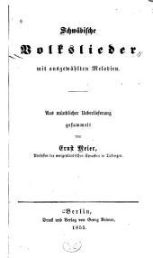 Schwäbische volkslieder mit ausgewählten melodien