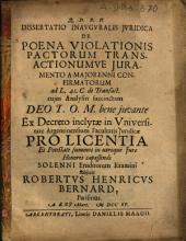 De poena violationis pactorum transactionumve iuramento a maiorenni confirmatorum: ad l. 41 C. de transact