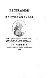 Epigrammi del conte Roncalli ...