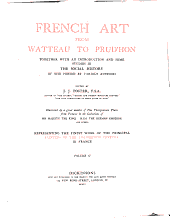 French art from Watteau to Prud'hon: Volume 2