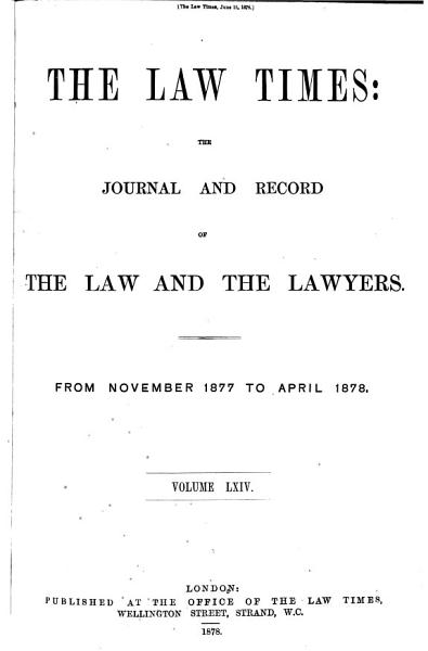 Download The Law Times Book