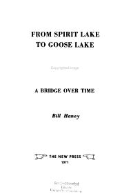 From Spirit Lake to Goose Lake PDF