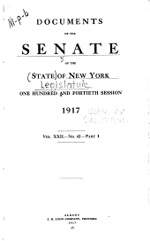 Documents of the Senate of the State of New York: Volume 22
