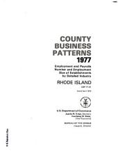 County Business Patterns, Rhode Island: Volume 3