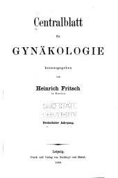 Centralblatt für gynäkologie: Band 13