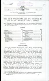 The sand wireworm and its control in the South Carolina coastal plain