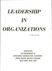 Leadership in Organizations PDF
