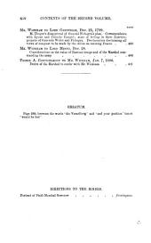 The Correspondence of Wi. Wickham from 1794: Volume 2