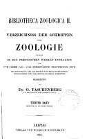 Bibliotheca zoologica II  PDF