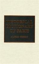 Historical Dictionary Of Paris Book PDF
