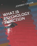 What Is Psychology Function Book PDF