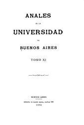 Anales de la Universidad de Buenos Aires: Volumen 11