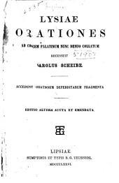 Orationes ad codicem Palatinum nunc denuo collatum