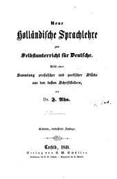 Neue holländische Sprachlehre zum Selbstunterrichte für Deutsche. 7. verb. Aufl
