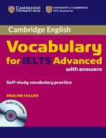 Cambridge Vocabulary for IELTS Advanced Band 6 5  with Answers and Audio CD PDF