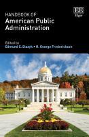 Handbook of American Public Administration PDF