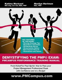 Demystifying the PMP Exam  PMCampus Performance Training Manual PDF