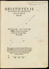 Priora analytica: libri II.