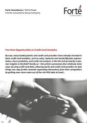 Five New Opportunities in Credit Card Analytics
