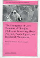 The Emergence of Core Domains of Thought