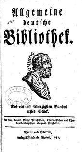 Allgemeine deutsche Bibliothek: Bände 71-72