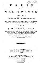 Tarif der tolregten van het Fransche keizerrijk