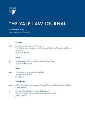 Yale Law Journal  Volume 123  Number 2   November 2013 PDF