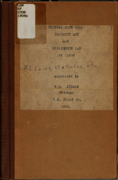 Federal Rate Bill, Immunity Act and Negligence Law of 1906