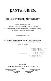 Kant-Studien: Volume 8