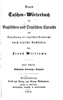 A New Pocket dictionary of the English and German Languages with a Pronunciation of the English Part in German Characters PDF