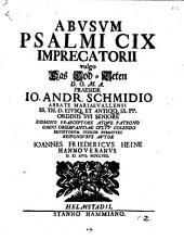 Abvsvm Psalmi CIX Imprecatorii vulgo Das Tod-Beten