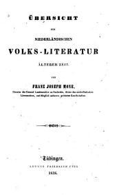 Übersicht der niederländischen volks-literatur älterer zeit
