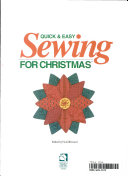 Quick and Easy Sewing for Christmas