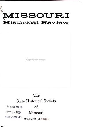 Missouri Historical Review PDF