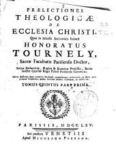 Praelectiones theologicae: de Ecclesia Christi