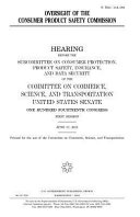 Oversight of the Consumer Product Safety Commission PDF