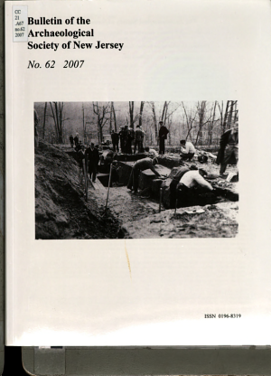 Bulletin of the Archaeological Society of New Jersey