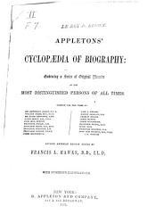 Appleton S Cyclopedia Of Biography Book PDF