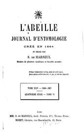 L'Abeille: journal d'entomologie, Volume24
