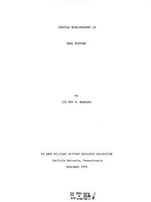 Special Bibliographic Series PDF
