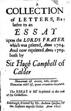 A Collection of Letters  Relative to an Essay Upon the Lord s Prayer  Now Reprinted PDF