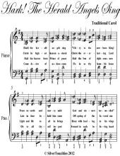 Hark the Herald Angels Sing Elementary Piano Sheet Music
