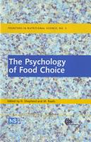 The Psychology of Food Choice PDF