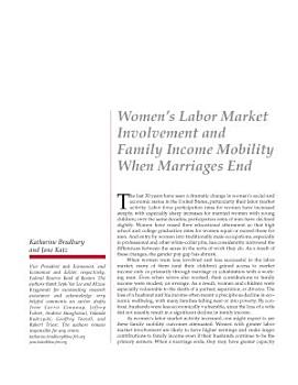Women  s Labor Market Involvement and Family Income Mobility When Marriages End PDF