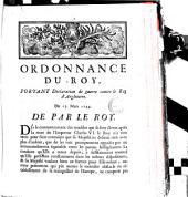 Ordonnance du Roy, portant déclaration de guerre contre le Roy d'Angleterre. Du 15. Mars 1744 [Versailles]