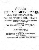 Ethicam Pittaci Mitylenai