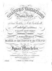 Grandes variations: pour le piano-forte avec accompagnement de deux violons, alto, violoncelle et contrebasse (ad libitum) ; oeuvre 42