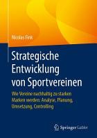 Strategische Entwicklung von Sportvereinen PDF